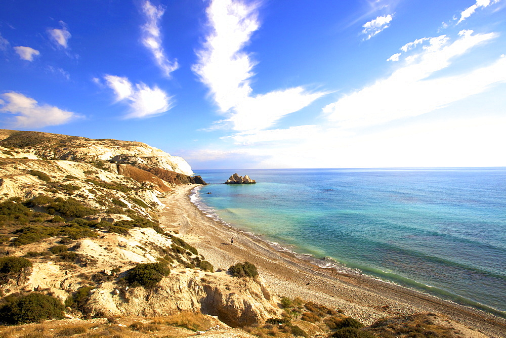 Saracen Rock, Paphos, Cyprus, Eastern Mediterranean Sea, Europe