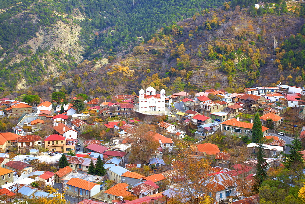 Village of Pedoulas, Troodos Mountains, Cyprus, Eastern Mediterranean, Europe