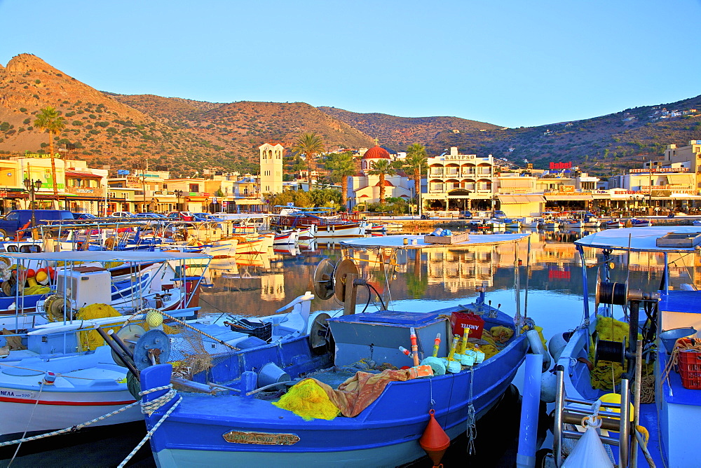 Elounda Harbour, Elounda, Crete, Greek Islands, Greece, Europe - 1126-1578