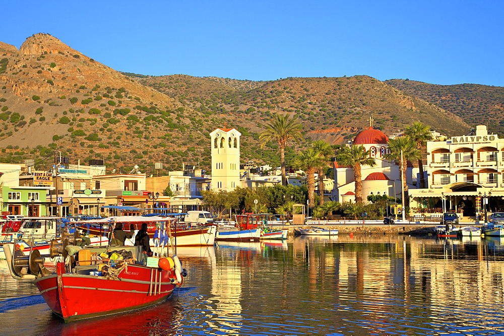 Elounda Harbour, Elounda, Crete, Greek Islands, Greece, Europe - 1126-1579