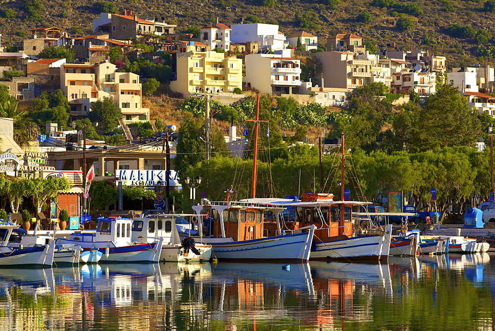Elounda Harbour, Elounda, Crete, Greek Islands, Greece, Europe - 1126-1580