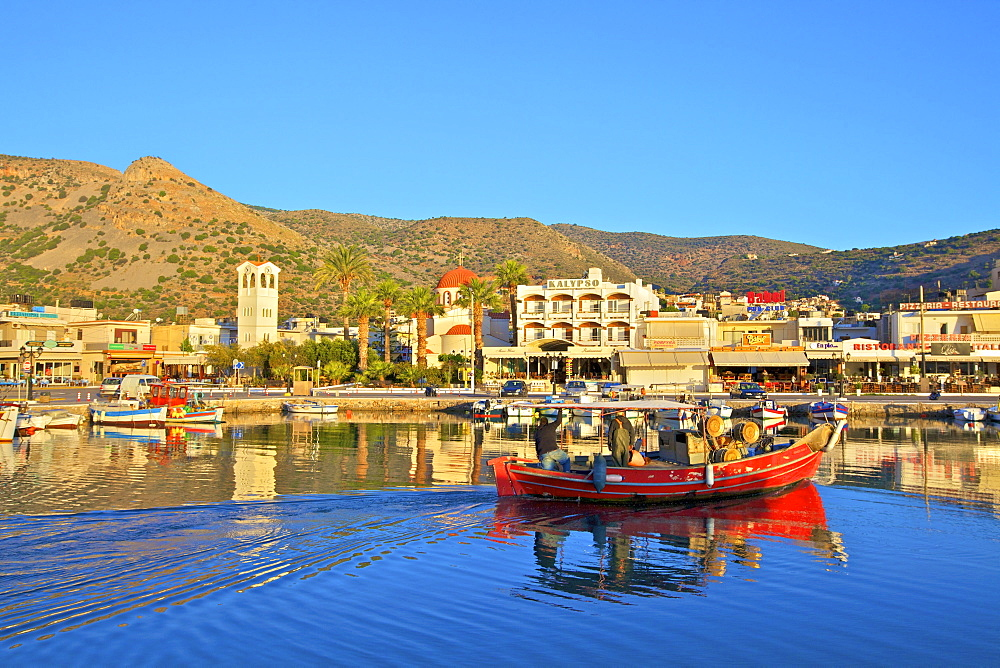 Elounda Harbour, Elounda, Crete, Greek Islands, Greece, Europe - 1126-1581