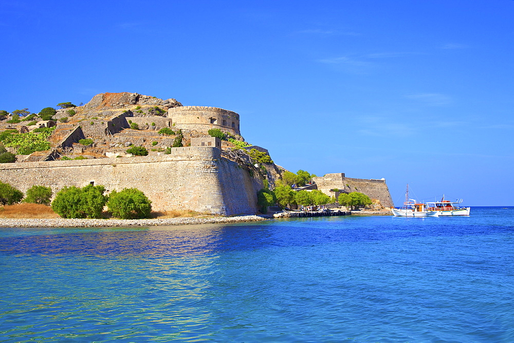 The Island of Spinalonga, Crete, Greek Islands, Greece, Europe - 1126-1582