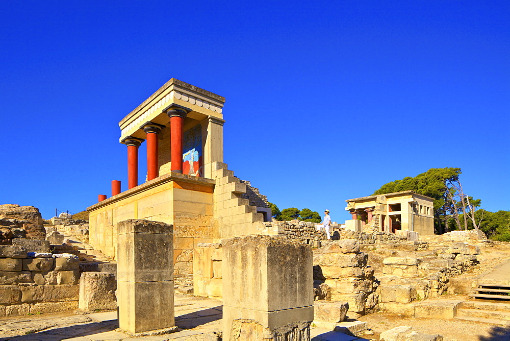 The Minoan Palace of Knossos, Knossos, Heraklion, Crete, Greek Islands, Greece, Europe - 1126-1589
