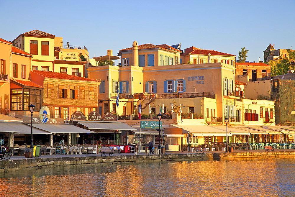The Venetian Harbour, Chania, Crete, Greek Islands, Greece, Europe - 1126-1592