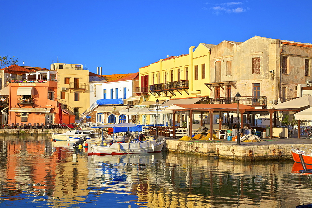 The Harbour at Rethymno, Rethymno, Crete, Greek Islands, Greece, Europe - 1126-1601