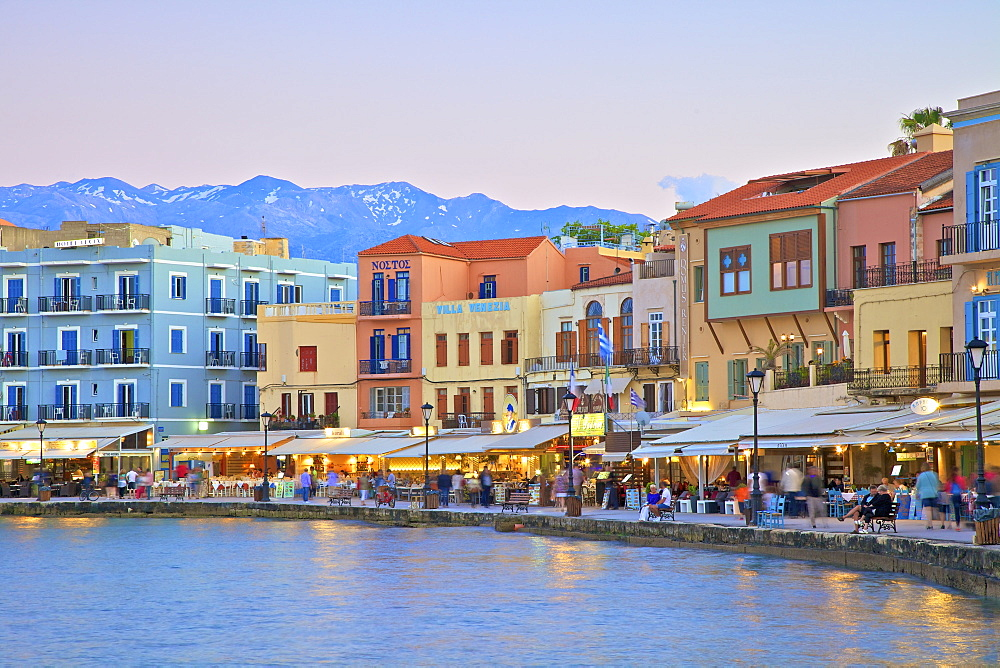 The Venetian Harbour, Chania, Crete, Greek Islands, Greece, Europe - 1126-1604