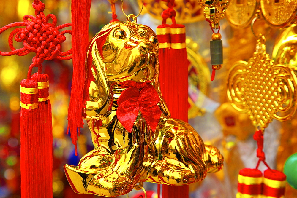 Chinese New Year decorations, Hong Kong, China, Asia - 1126-1650