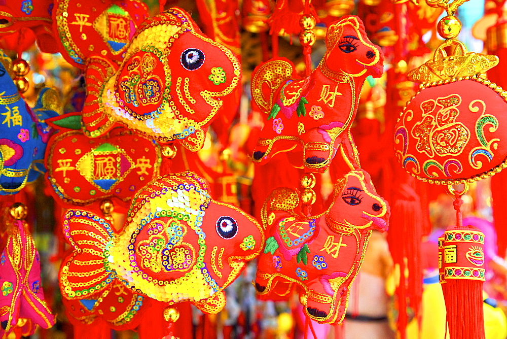 Chinese New Year decorations, Hong Kong, China, Asia - 1126-1652