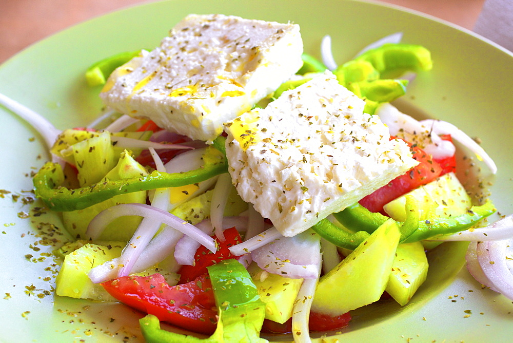Greek Salad, The Peloponnese, Greece, Europe - 1126-1665