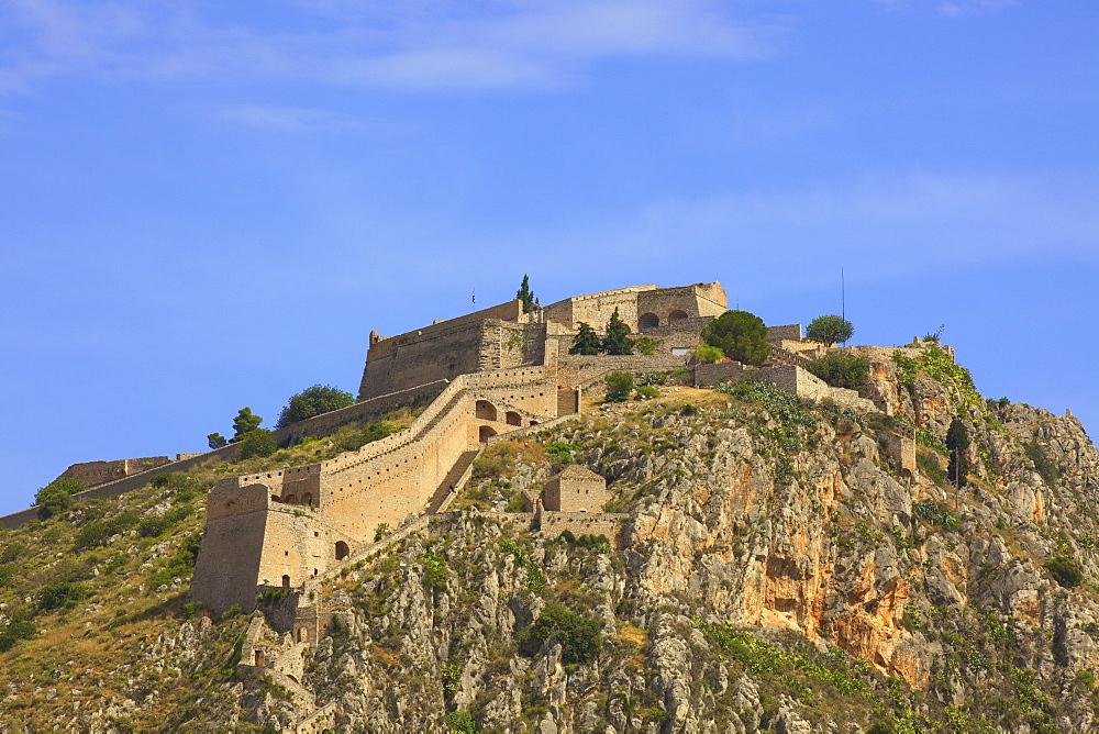 Palamidi Fortress, Old Town of Nafplio, Argolis, The Peloponnese, Greece, Europe