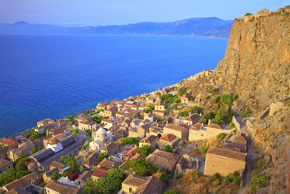 Monemvasia, Laconia, The Peloponnese, Greece, Europe - 1126-1678