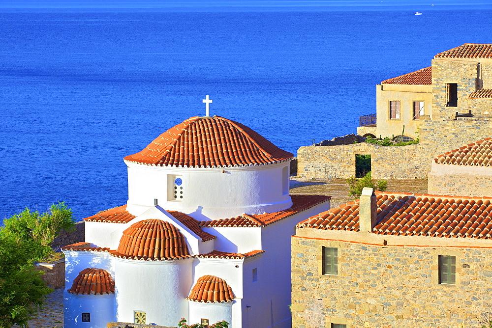 Panaghia Chrisaffitisa, Monemvasia, Laconia, The Peloponnese, Greece, Europe