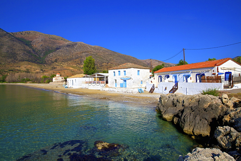 Beach at Skoutari, Mani Peninsula, The Peloponnese, Greece, Europe - 1126-1691