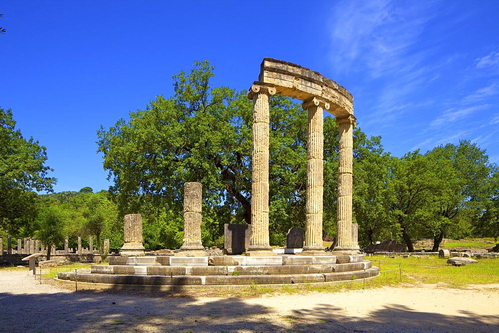 The Philippeion, Olympia, UNESCO World Heritage Site, Arcadia, The Peloponnese, Greece, Europe