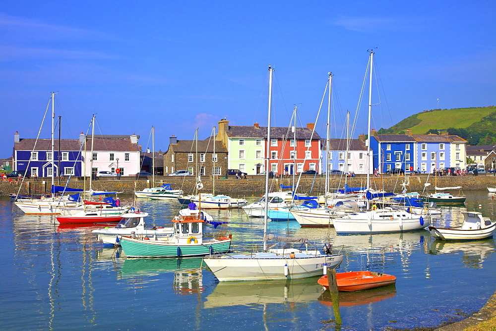 The Harbour at Aberaeron, Cardigan Bay, Wales, United Kingdom, Europe