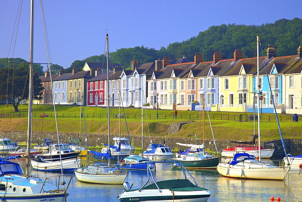 The Harbour at Aberaeron, Cardigan Bay, Wales, United Kingdom, Europe - 1126-1700