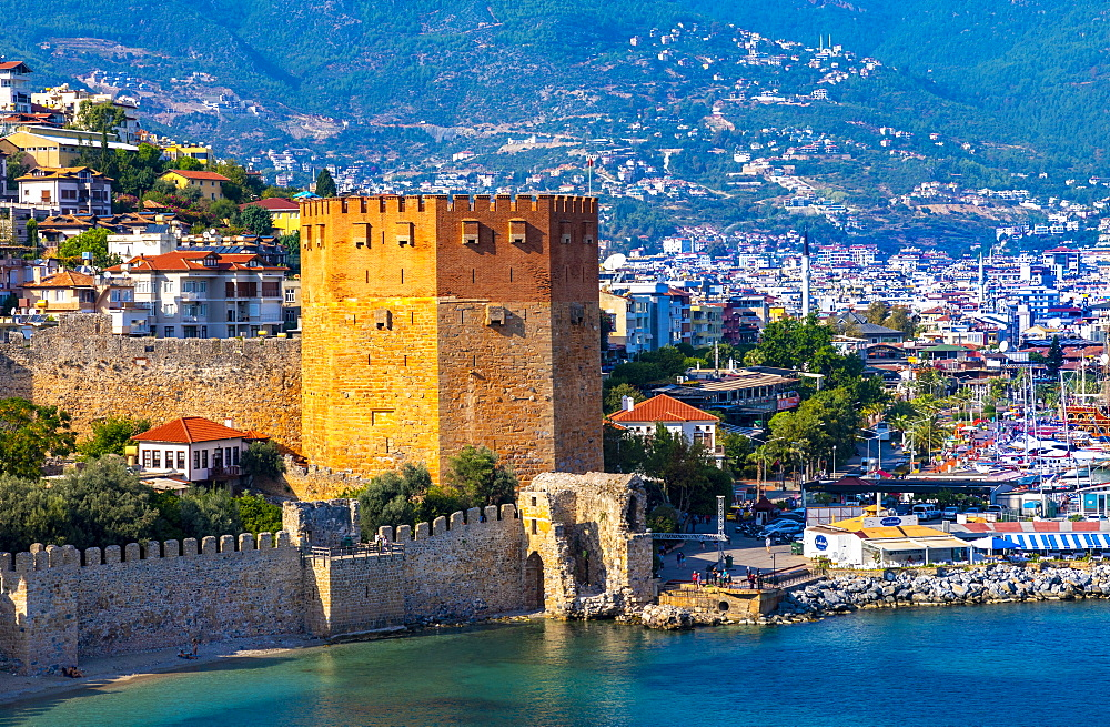 Alanya Harbour and The Red Tower, Alanya, Turkey