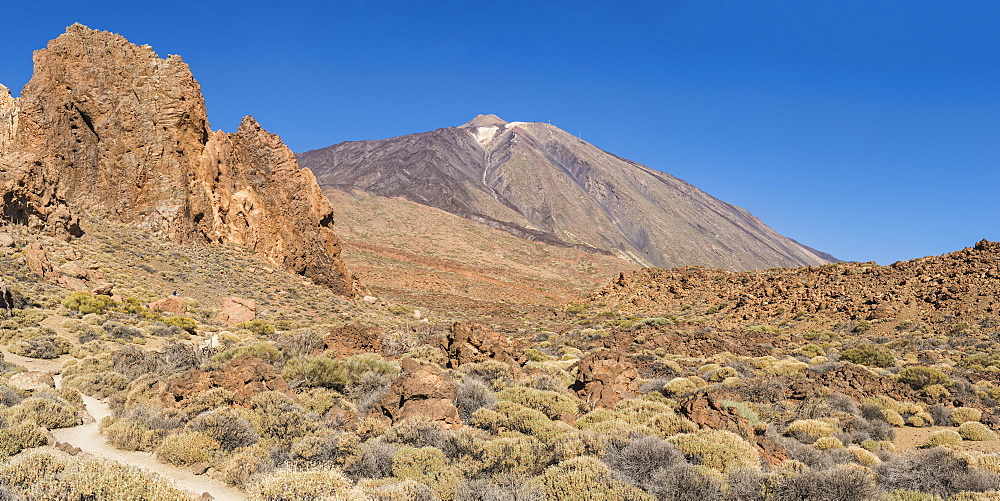 Mount Teide volcano, Teide National Park, UNESCO World Heritage Site, Tenerife, Canary Islands, Spain, Europe