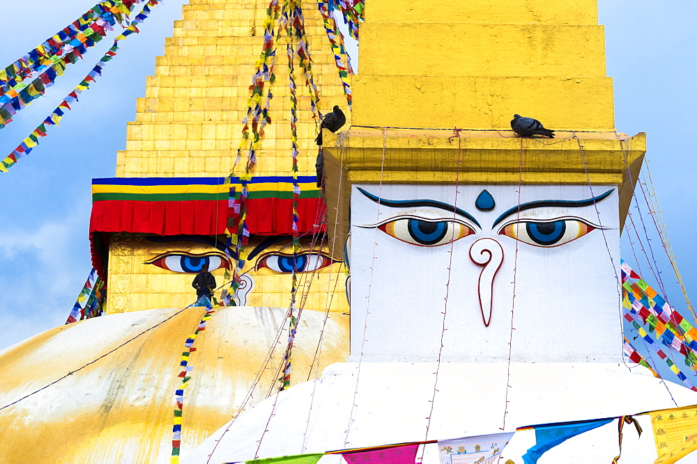 Largest Asian Stupa, Boudhanath Stupa, UNESCO World Heritage Site, Kathmandu, Nepal, Asia - 1131-1048