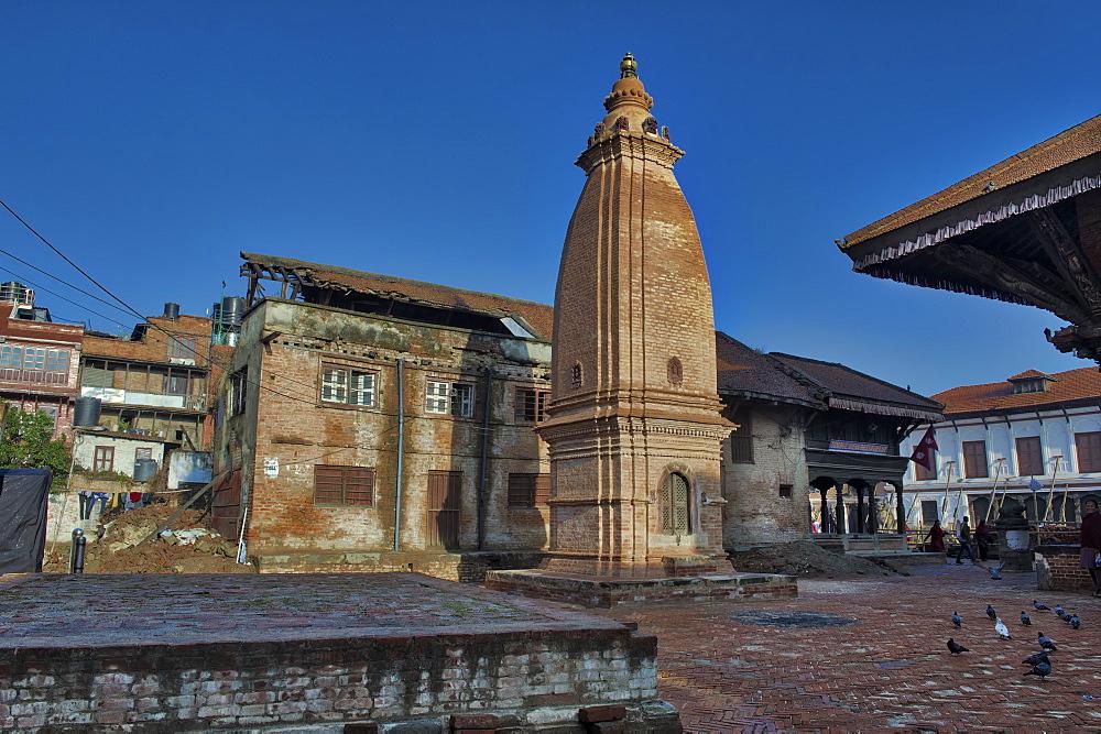 Taumadhi Tole square, UNESCO World Heritage Site, Bhaktapur, Nepal, Asia