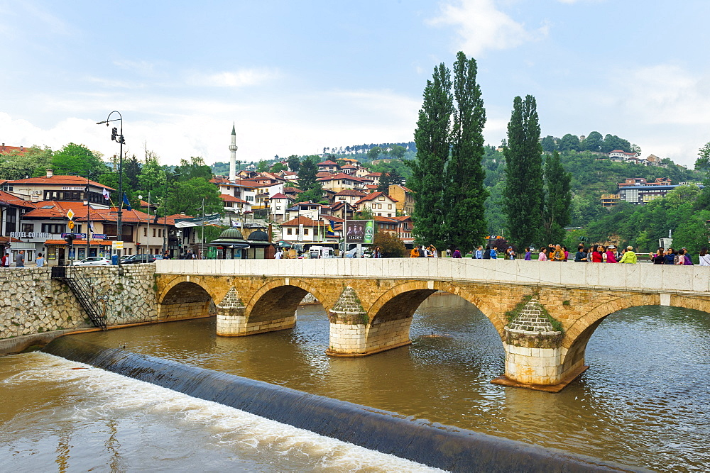 Seher Cehajina bridge over Miljacka river, Sarajevo, Bosnia and Herzegovina - 1131-1170