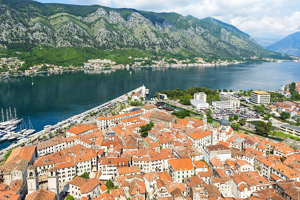 Aerial view of Kotor Old Town, Unesco World Heritage Site, Kotor, Montenegro - 1131-1177