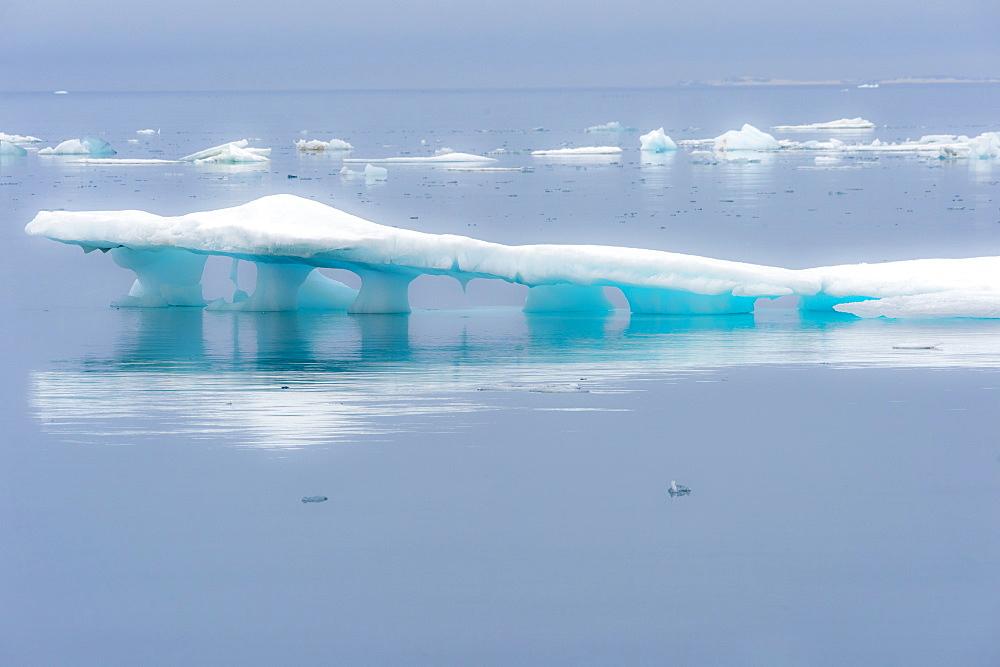 Melting Iceberg, Hinlopen Strait, Spitsbergen Island, Svalbard Archipelago, Norway - 1131-1187
