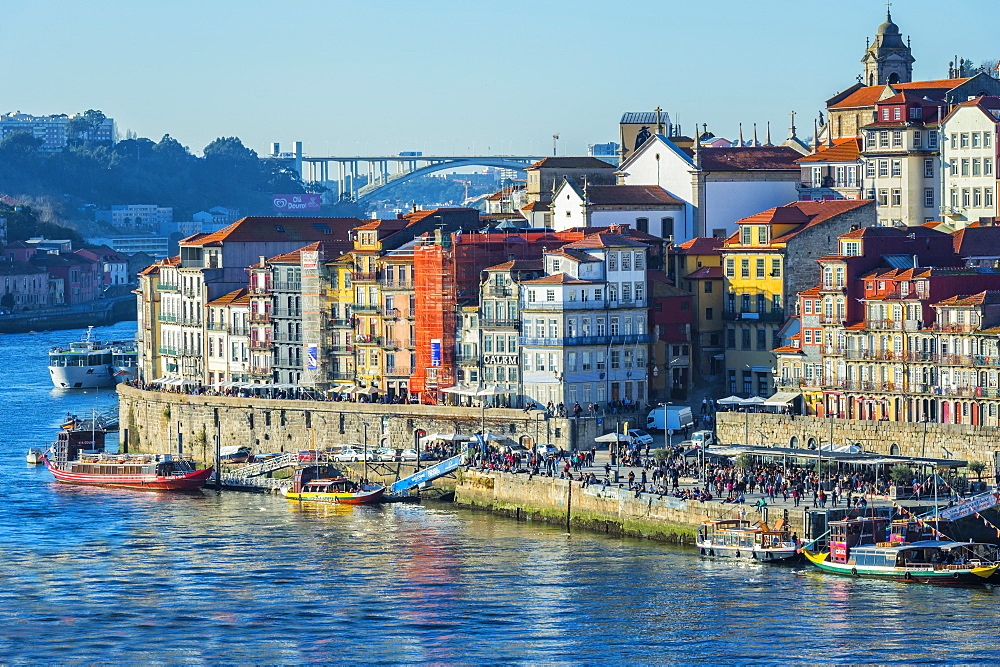 Douro river and Ribeira district, Porto, Portugal