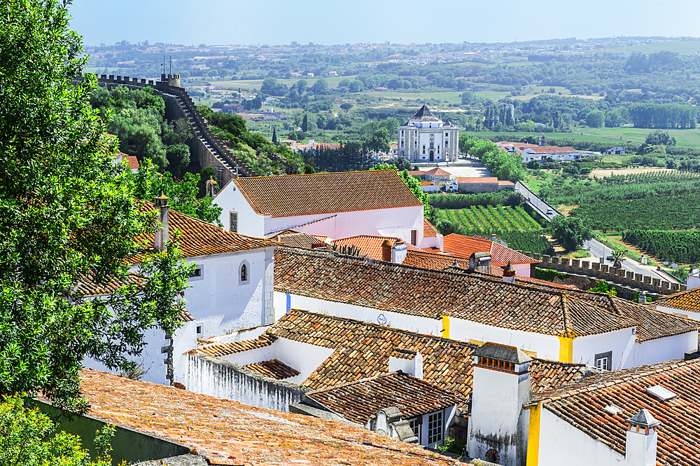 Medieval city of Obidos, Leiria District, Estremadura, Portugal, Europe
