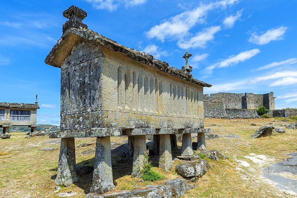 Traditional Espigueiros (Granary), Lindoso, Peneda Geres National Park, Minho province, Portugal, Europe - 1131-1433