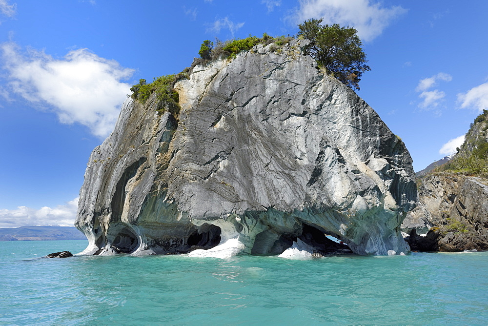 Marble Caves Sanctuary, Marble Cathedral on General Carrera Lake, Puerto Rio Tranquilo, Aysen Region, Patagonia, Chile, South America