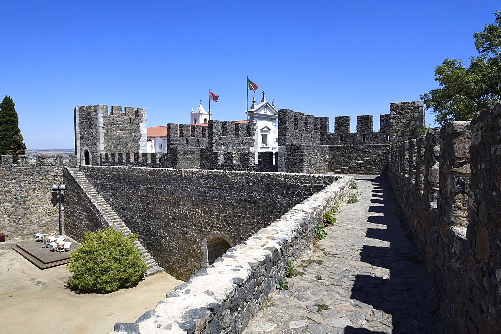 Courtyard, Beja Castle, Beja, Alentejo, Portugal, Europe - 1131-1547