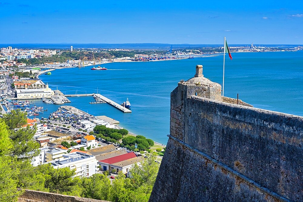 Setubal viewed from Sao Filipe Castle, Setubal, Lisbon Coast, Portugal, Europe - 1131-1615