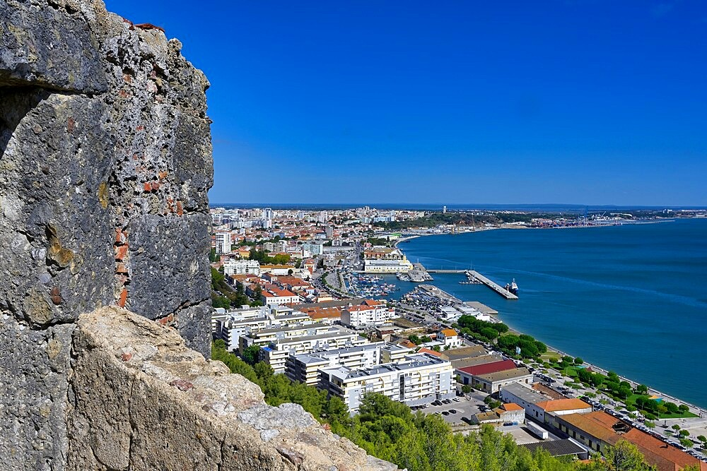 Setubal viewed from Sao Filipe Castle, Setubal, Lisbon Coast, Portugal, Europe - 1131-1617