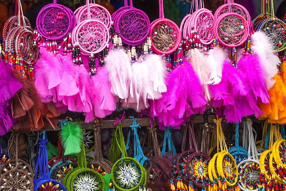 Otavalo market, souvenir shop, Imbabura Province, Ecuador, South America