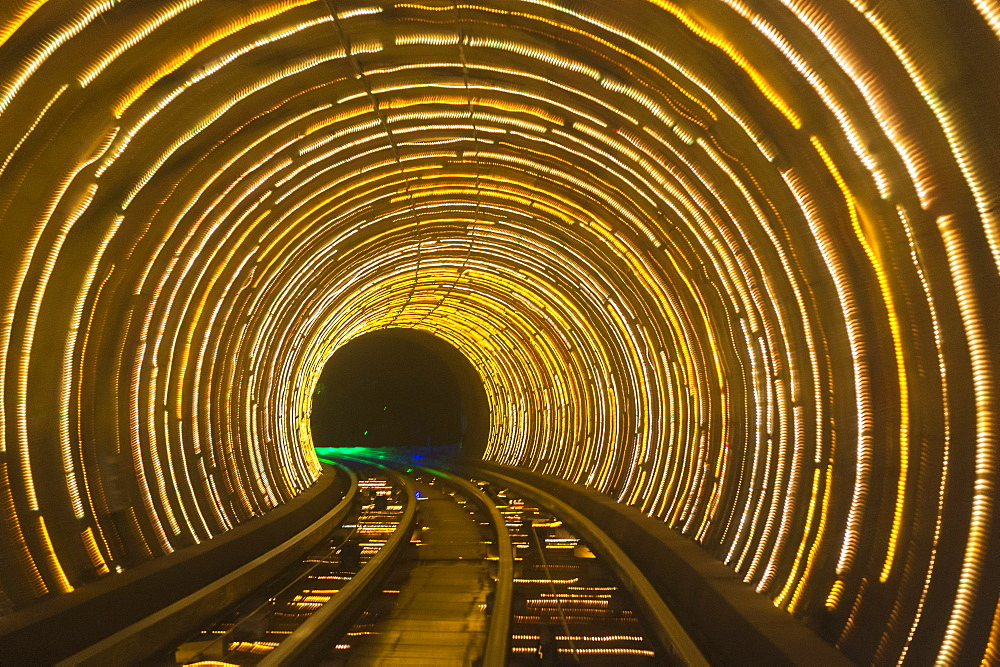 Bund Sightseeing Tunnel, Pudong, Shanghai, China, Asia