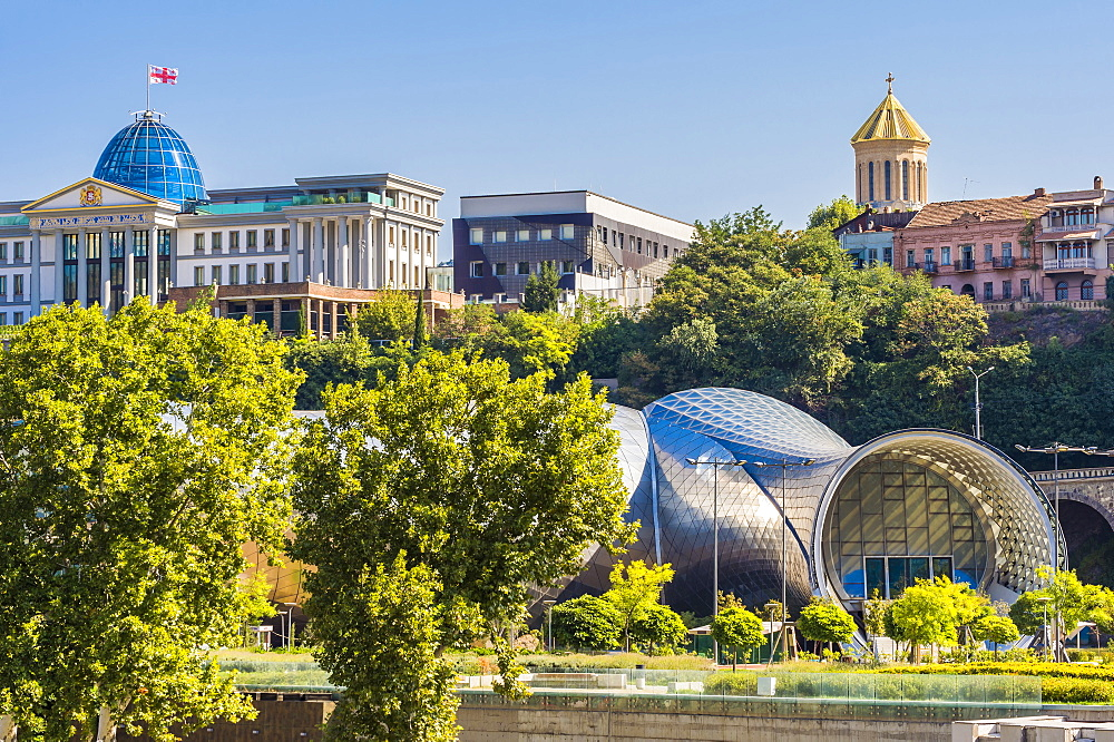 Concert Hall and Exhibition Centre, Presidential Palace, Rike Park, Tbilisi, Georgia, Caucasus, Middle East, Asia