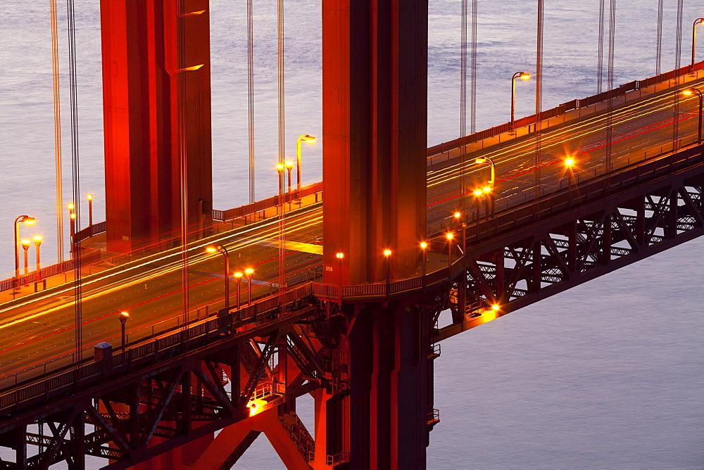 Close-up of the Golden Gate Bridge, San Francisco, California, United States of America, North America