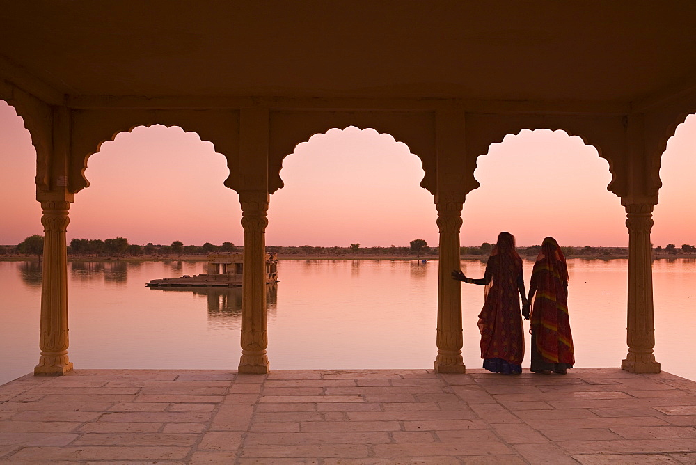 Women In Traditional Dress, Jaisalmer, Western Rajasthan, India