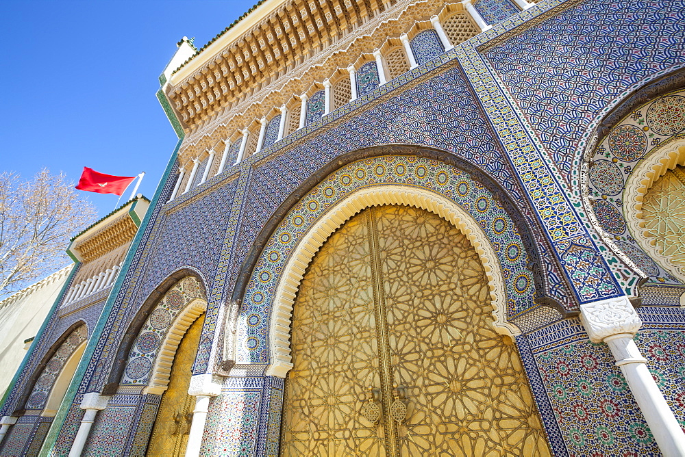 Royal Palace door, Fes, Morocco, North Africa, Africa - 1158-40