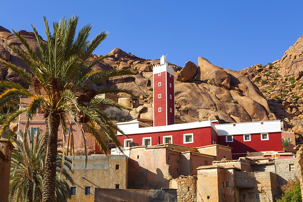 The Red Mosque of Adai, Tafraoute, Anti Atlas, Morocco, North Africa, Africa - 1158-43