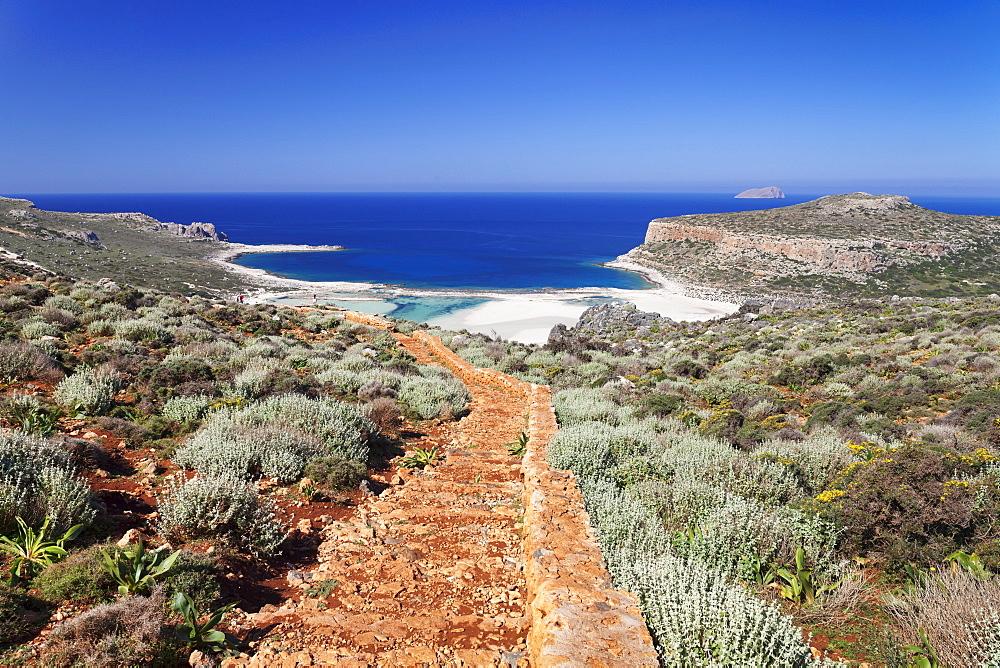 Balos Bay, Gramvousa Peninsula, Crete, Greek Islands, Greece, Europe