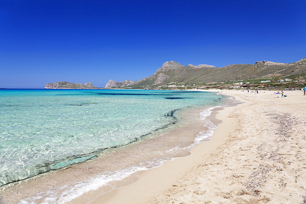 Falassarna beach, Falassarna, Chania (Khania), Crete, Greek Islands, Greece, Europe
