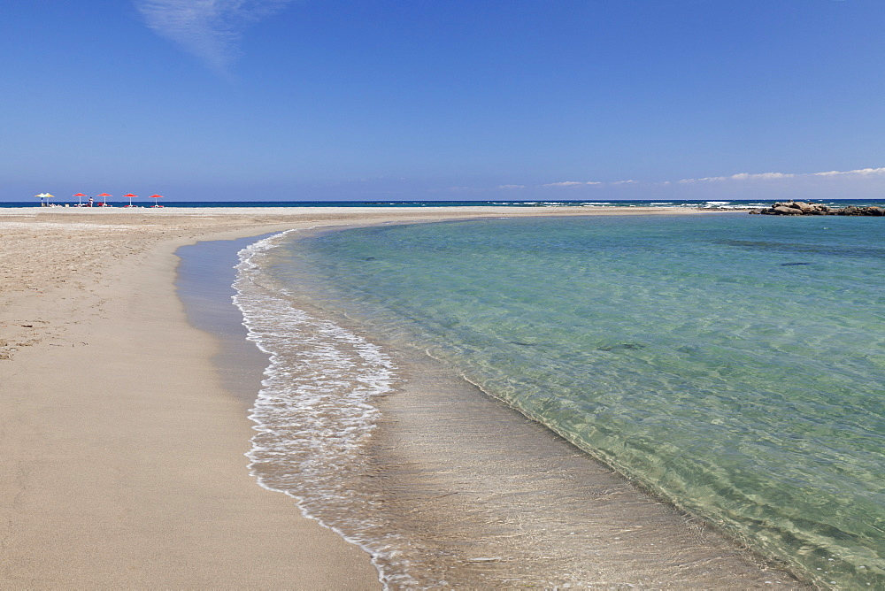 Beach of Frangokastello, Chania, South Crete, Crete, Greek Islands, Greece, Europe