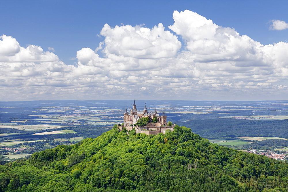 Burg Hohenzollern Castle, Zollernalb, Schwaebische Alb (Swabian Alb), Baden Wurttemberg, Germany, Europe - 1160-2254