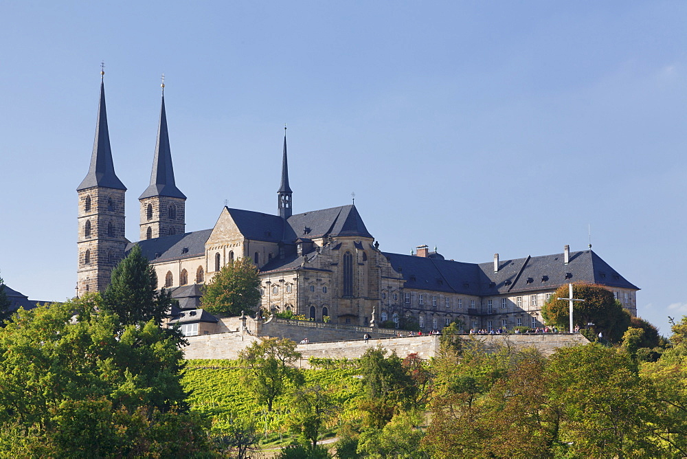 Kloster Michaelsberg Monastery, UNESCO World Heritage Site, Bamberg, Franconia, Bavaria, Germany, Europe