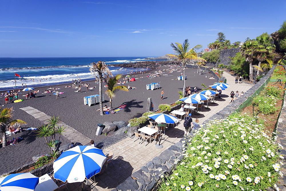 Playa Jardin Beach, Puerto de la Cruz, Tenerife, Canary Islands, Spain, Atlantic, Europe