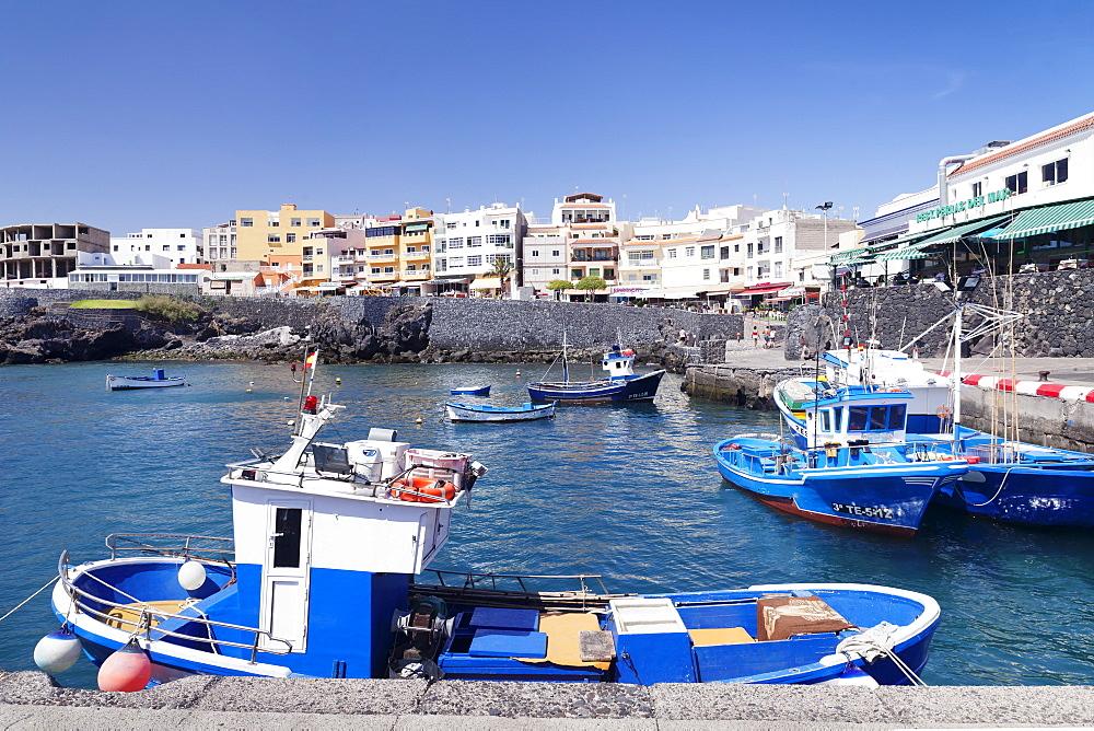 Fishing boats at the port, Los Abrigos, Tenerife, Canary Islands, Spain, Atlantic, Europe