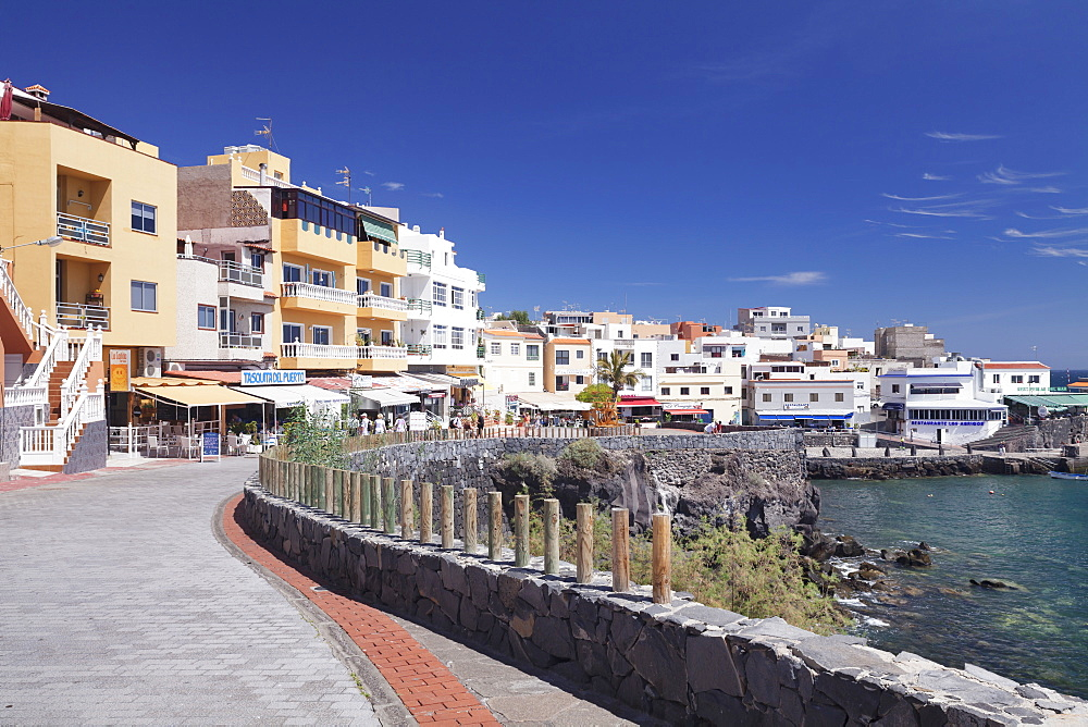 Promenade at the port, Los Abrigos, Tenerife, Canary Islands, Spain, Atlantic, Europe